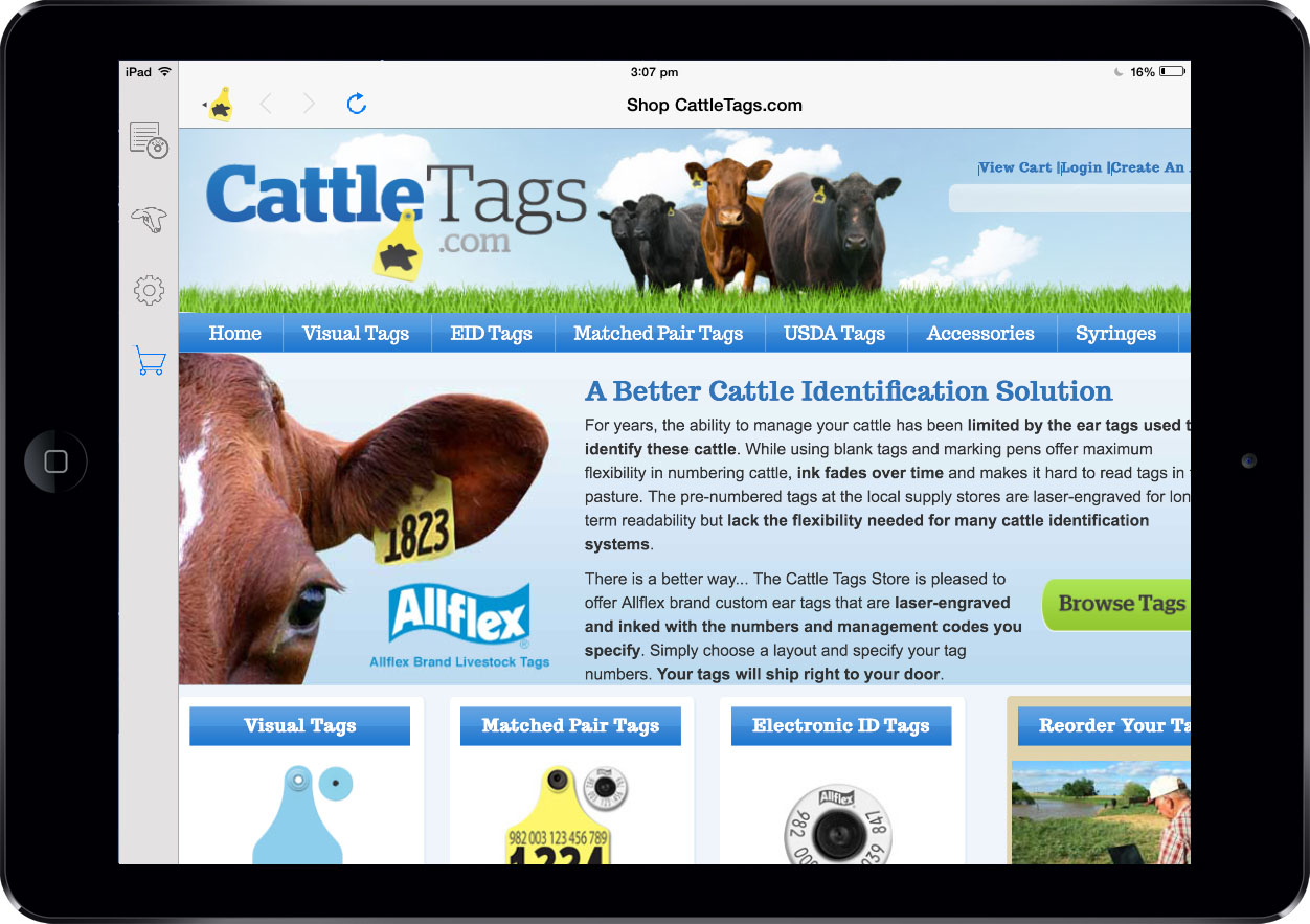 CattleSoft App Screen - 1 | CattleTags | Tracking Cattle Using RFID Readers Mobile App