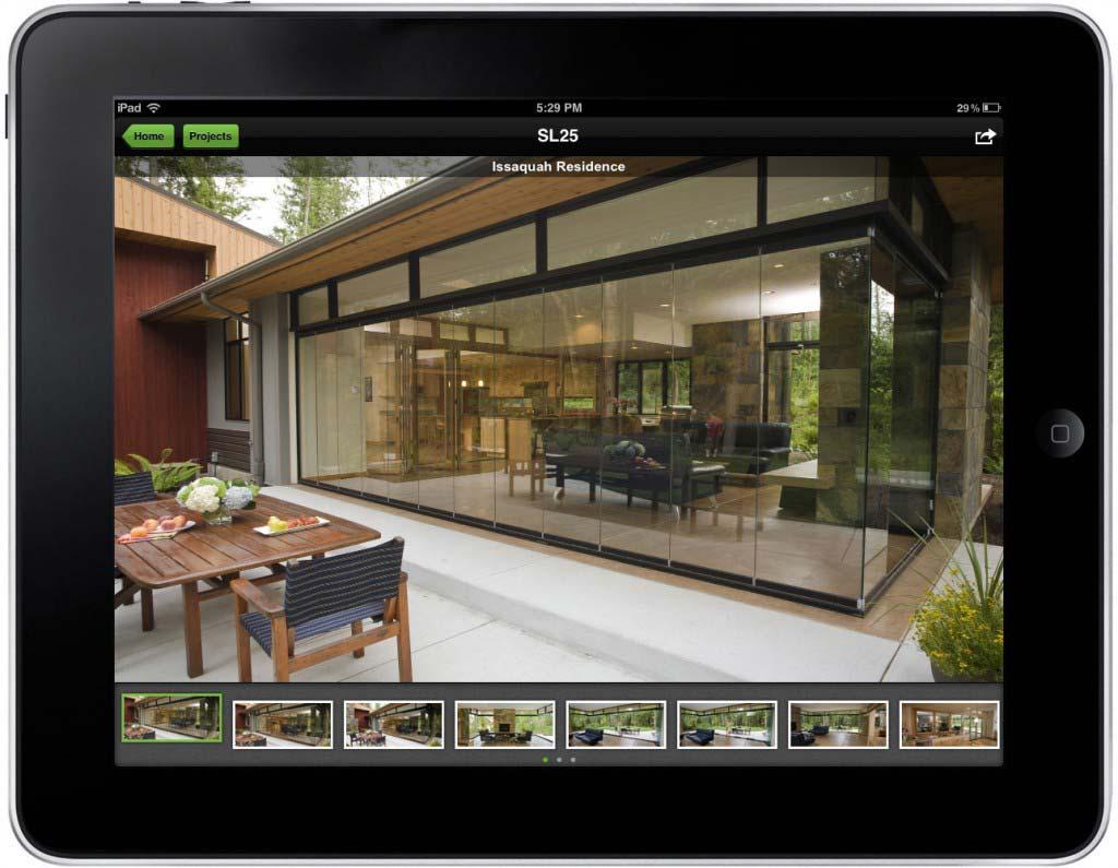 NanaWall App Screen - 1   Sales Enablement Marketing Content Mobile App