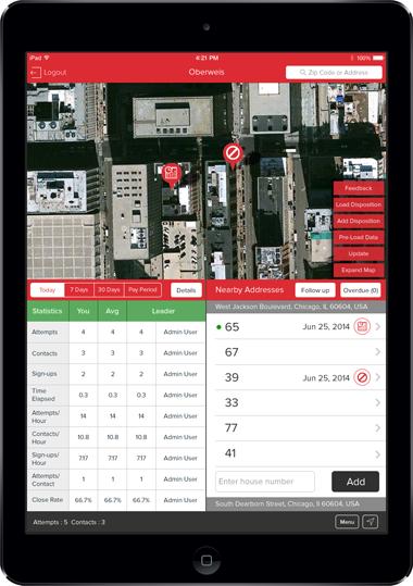 Oberweis Dairy App Screen - 1 | Door to Door Sales Mobile App