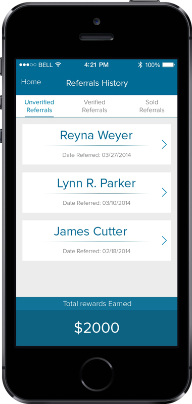 GetTheReferral App Screen - 1 | Referral Programs Mobile App
