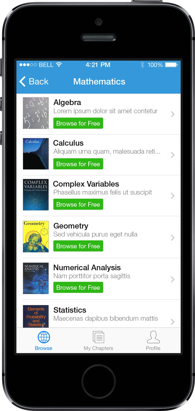 TheChapterApp App Screen - 4 | Purchasing Individual Chapters In a Book Mobile App