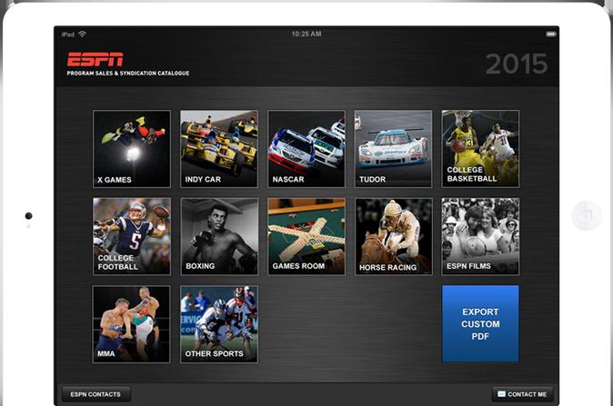 ESPN Home Banner Home | LeewayHertz | Sales Collateral Mobile App