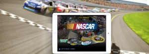 NASCAR Banner | Presenting Customized Content From Catalog Mobile App