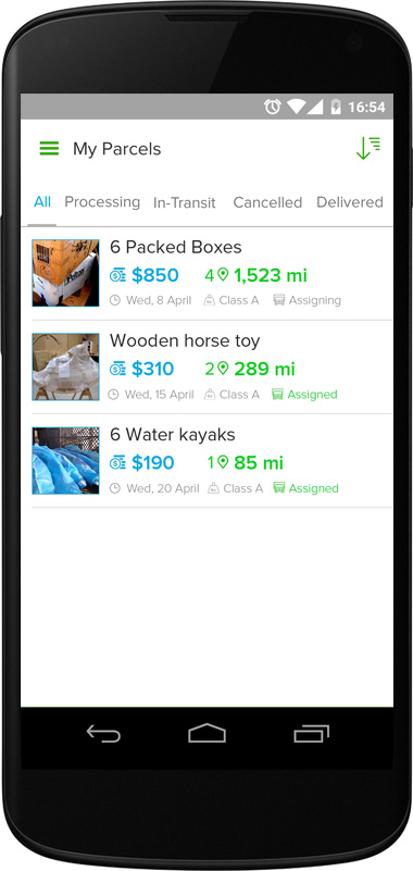 UPEDS App Screen - 4| Package Deliveries Mobile App