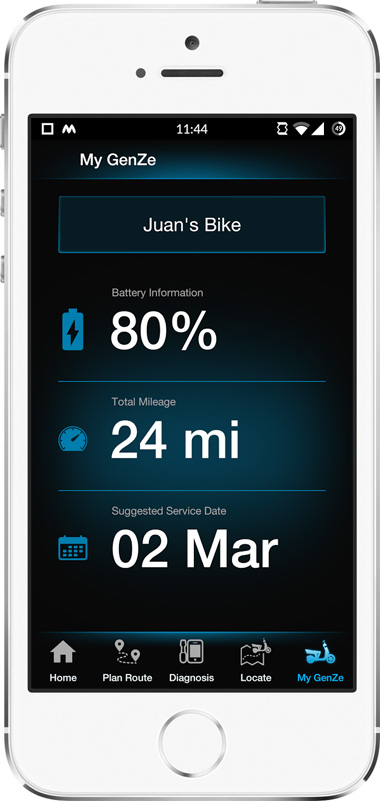 Mahindra GenZe App Screen - 4 | E-Bike Mobile App