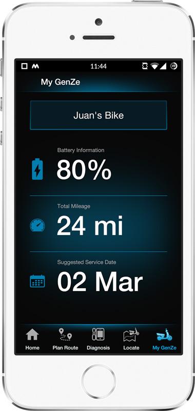 Mahindra GenZe App Screen - 4 | E-Bike Mobile App