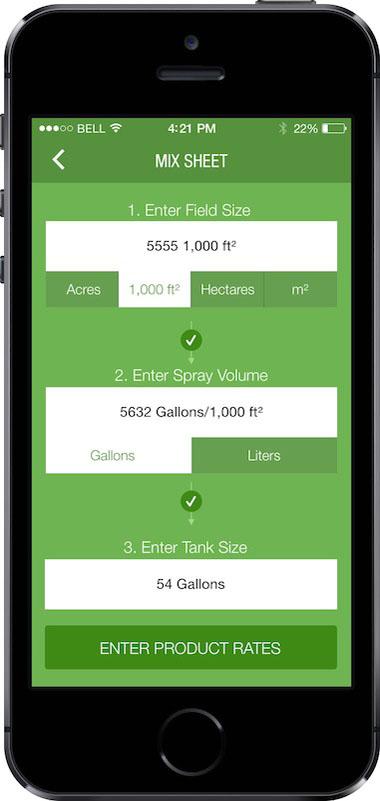 Precision Laboratories App Screen - 2   Tank Mixing Algorithm Mobile App