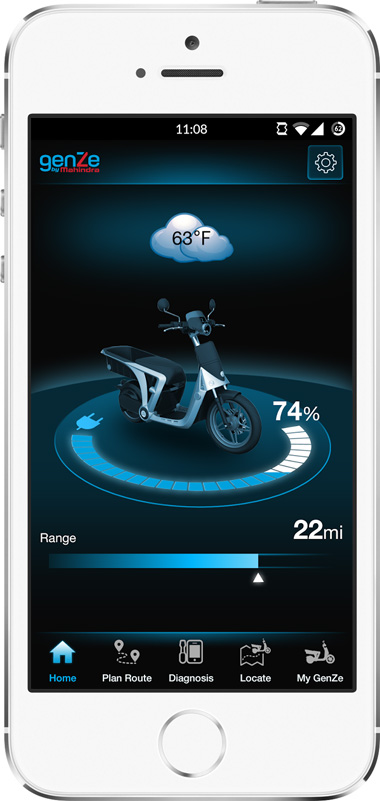 Mahindra GenZe App Screen - 1 | E-Bike Mobile App