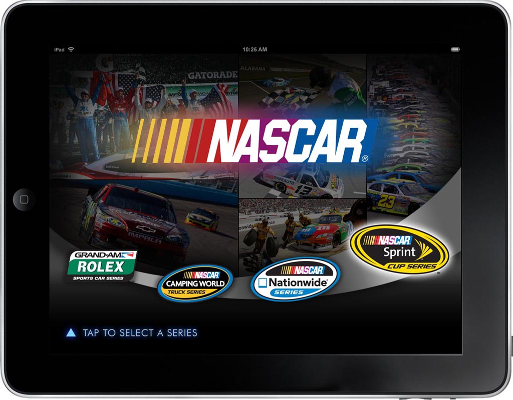 NASCAR App Screen - 1 | Presenting Customized Content From Catalog Mobile App