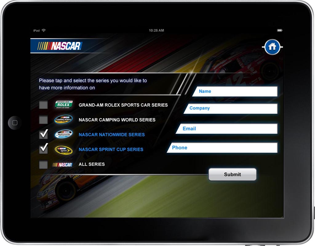 NASCAR App Screen - 4 | Presenting Customized Content From Catalog Mobile App