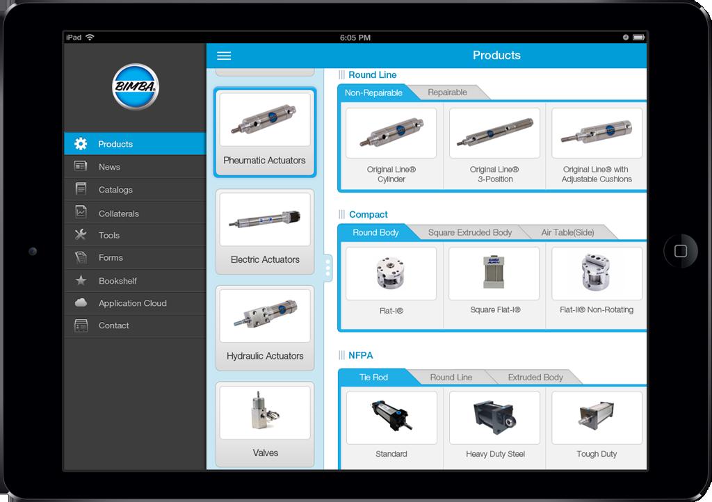 Bimba App Screen - 1 | Sales Enablement Catalog Mobile App