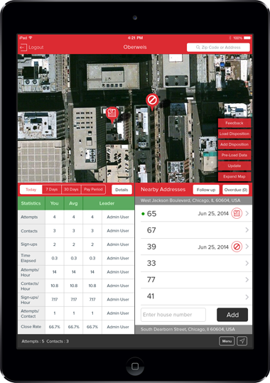 Oberweis Dairy App Screen - 1 | Door to Door Sales Mobile App