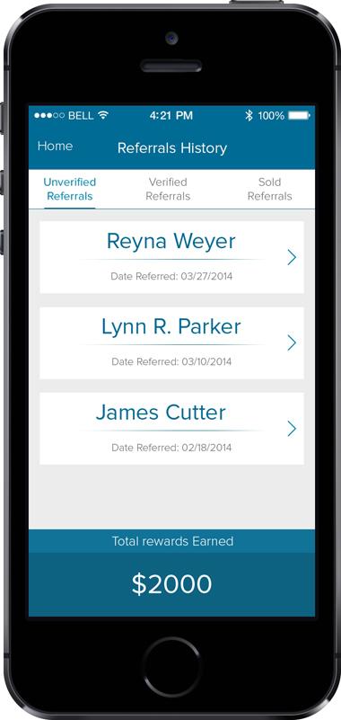 GetTheReferral App Screen - 1 | Referral Programs Mobile App