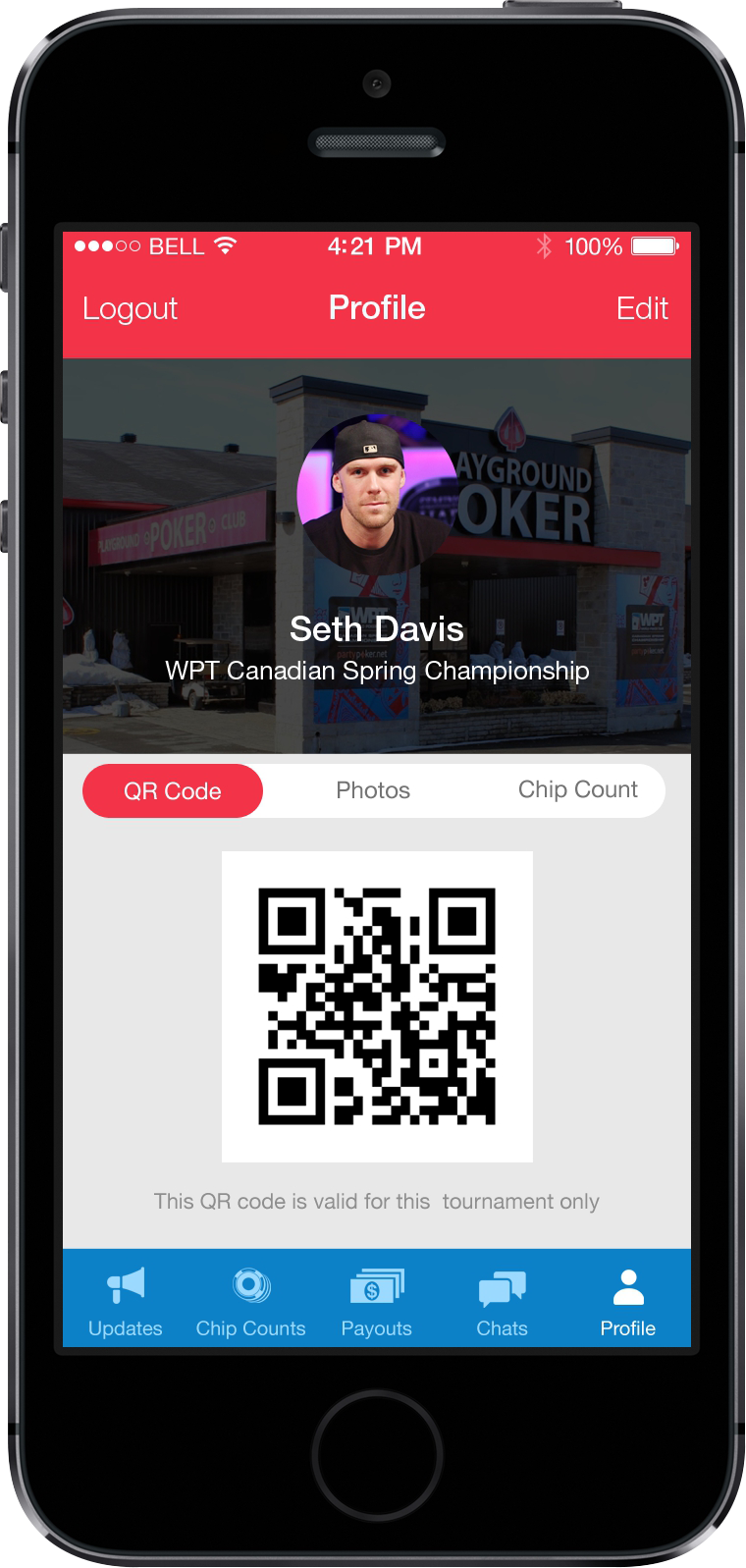 MyWPT App Screen 4 | Poker Tournament Reporting