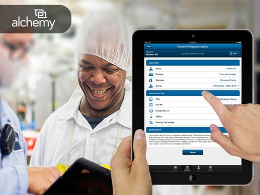 Banner | Mobile app developed by LeewayHertz for Alchemy enabling training assessment and validation
