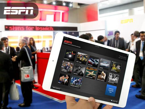 Banner | Mobile app developed by LeewayHertz for ESPN allowing sales team to customize collateral