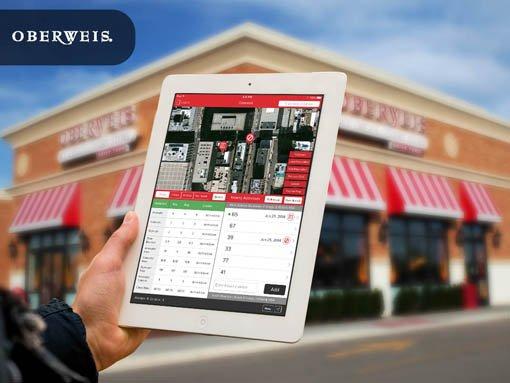 Banner | Mobile app developed by LeewayHertz for Oberweis allowing their sales team to keep track of door to door sales