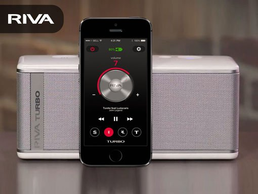 Banner | Mobile app developed by LeewayHertz for RIVA enabling bluetooth speaker controls feature extension
