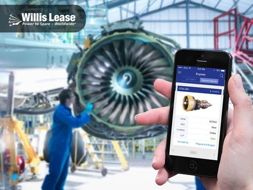 Banner | Mobile app developed by LeewayHertz for Willis Lease allowing bidding & browsing of jet engines