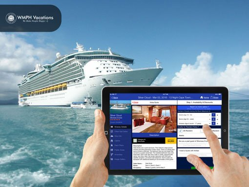 Banner | Mobile app developed by LeewayHertz for iCruise allowing customers to search, plan and book cruises