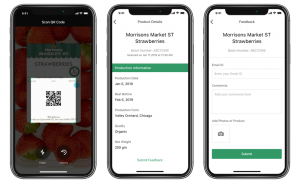 Consumer app for tracing of products